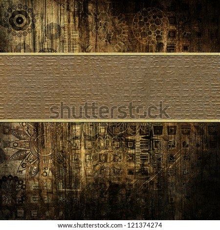art vintage background with place for text - stock photo