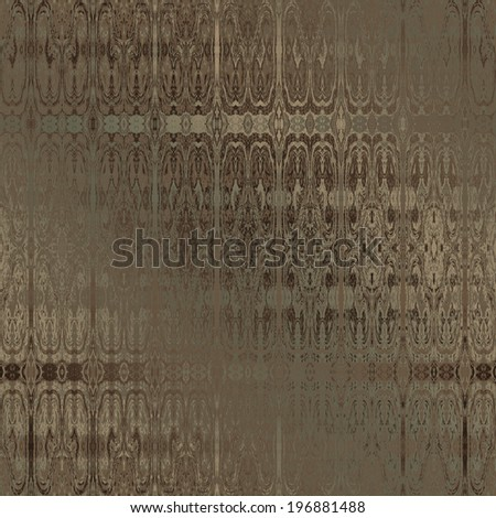 art vintage damask seamless pattern, bronze blurred background in green and brown graphic