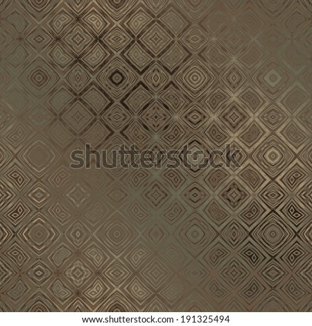 art vintage damask seamless pattern, monochrome bronze blurred background in green and brown graphic