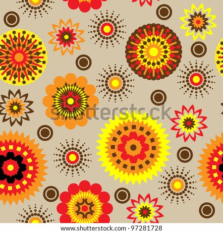 art vintage floral seamless pattern background. Vector version is also in my gallery.