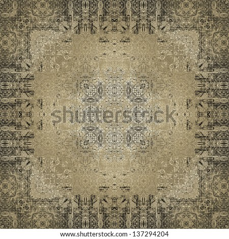 art vintage geometric ornamental pattern in sepia