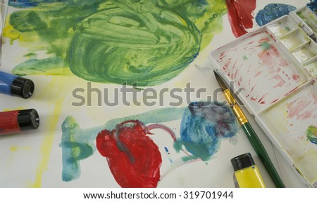 art water color education kid play fun