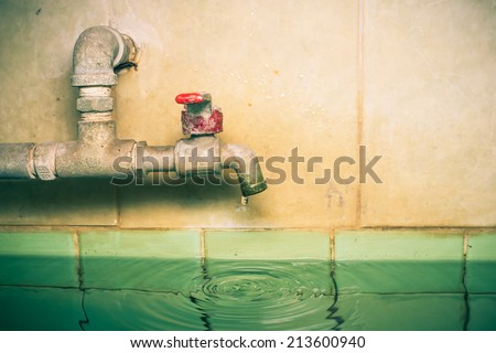 Art Water tap - stock photo