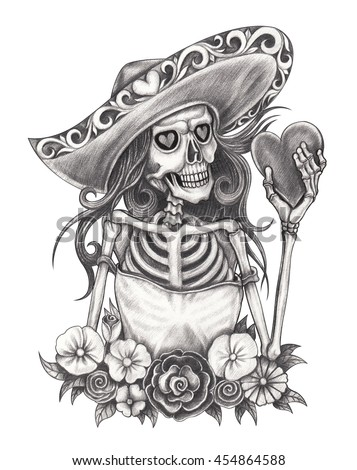 how to draw a day of the dead girl