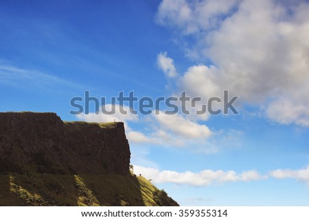 Arthur's Seat peak in Edinburgh, Scotland. - stock photo