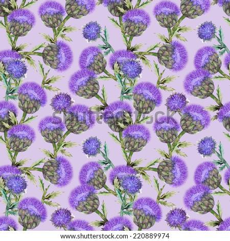 Artichoke seamless pattern - stock photo