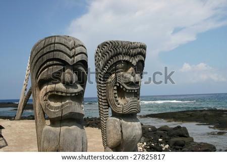 Artifacts on the Big Island of Hawaii - stock photo