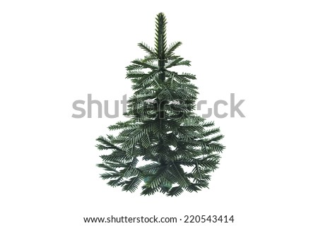 Artificial christmas tree isolated over white