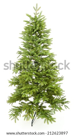 Artificial fir tree isolated on white