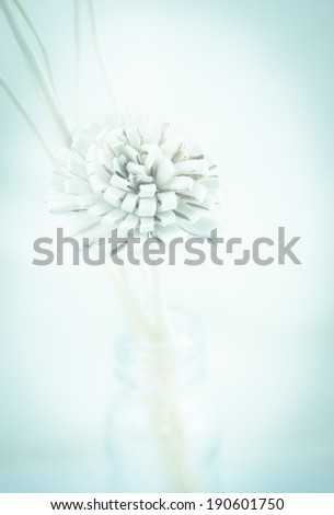 artificial flower with retro color tone