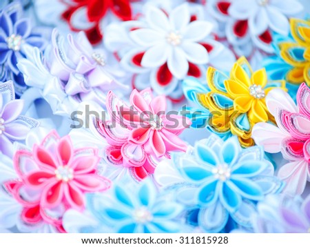 Artificial flowers decor - stock photo