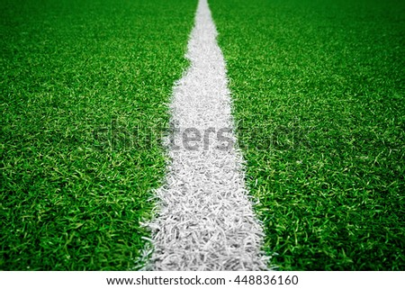 artificial football pitch - stock photo