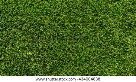 Artificial Grass Field Top View Texture. - stock photo
