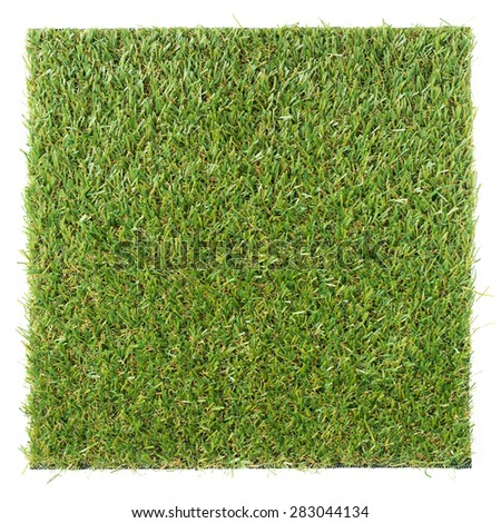 artificial grass isolated on white - stock photo