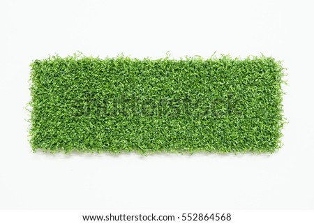 artificial grass isolated on white background