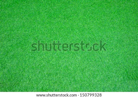 artificial grass on soccer football field  - stock photo