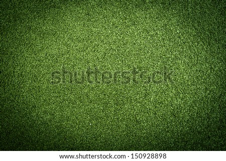 Artificial grass turf in green colors - stock photo