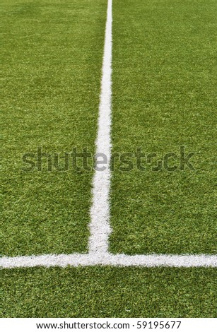 artificial grass with white lines for football field