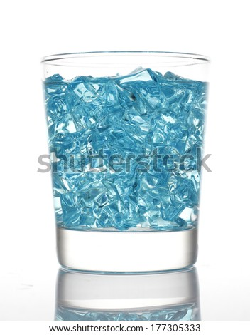 Artificial ice in Glass Isolated