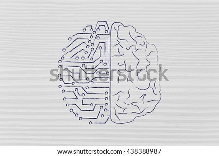 artificial intelligence and human brain comparison design