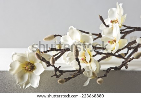 Artificial textile flower - stock photo