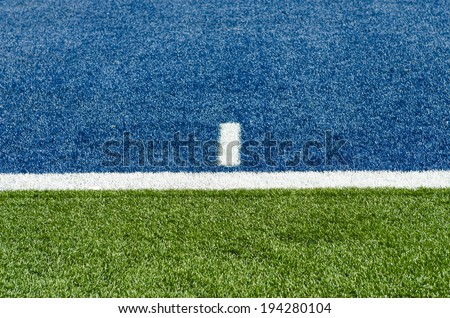 Artificial turf lines - stock photo