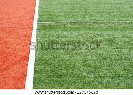 Artificial Turf on a Sports Field - stock photo