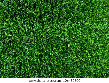 Artificial turf taken from the top. - stock photo