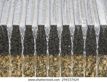 Artificial waterfall detail, in Atlanta, USA - stock photo