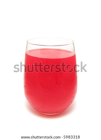 Artificially flavored drink - stock photo