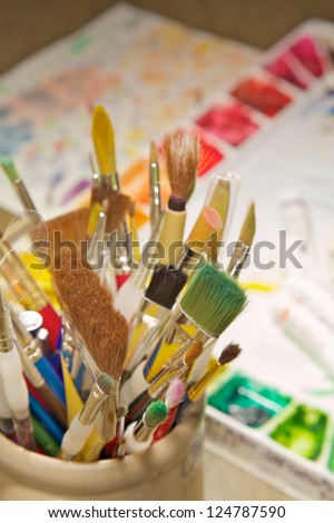 Artist Choice - Brushes & Colors - stock photo