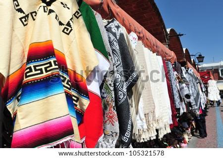 Artist Market in Puebla City, Mexico. - stock photo