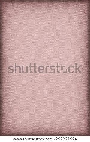 Artist Pale Pink Primed Linen Duck Canvas, coarse grain, vignette grunge texture - stock photo