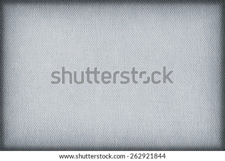 Artist Pale Powder Blue Primed Linen Duck Canvas, coarse grain, vignette grunge texture. - stock photo