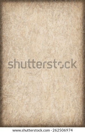 Artist Primed Cotton Duck Canvas, coarse grain, bleached, mottled, stained, vignette grunge texture.