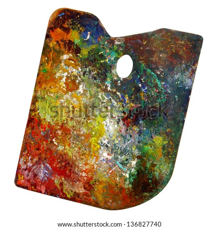 Artist's palette isolated - stock photo