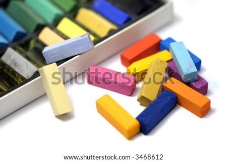 artist's pastels - stock photo