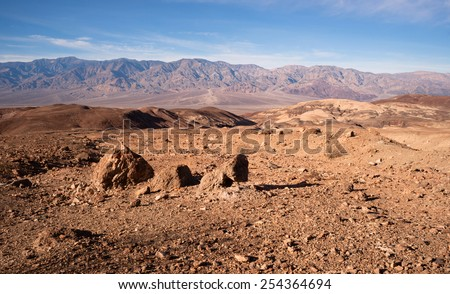 Artist's Point Perfect Day Death Valley National Park - stock photo