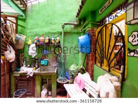 Artist studio, Havana - stock photo