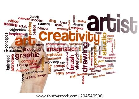 Artist word cloud concept - stock photo