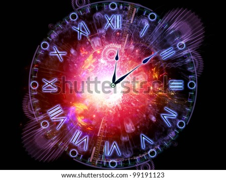 Artistic background for use with projects on time sensitive issues, deadlines, scheduling, temporal processes, past, present and future, made of clock hands, gears, lights and abstract design elements