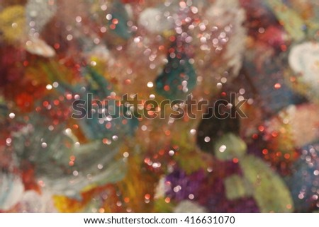 Artistic blur of a rainbow colored painting background