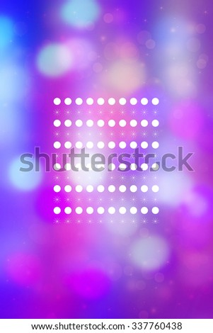 Artistic bokeh lights background with graphic elements