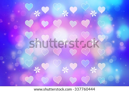 Artistic bokeh lights background with graphic elements  - stock photo