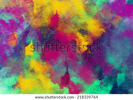 Artistic Bright Colorful Beauty Watercolor Background
