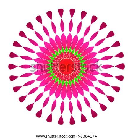 Artistic colorful circular design - stock photo