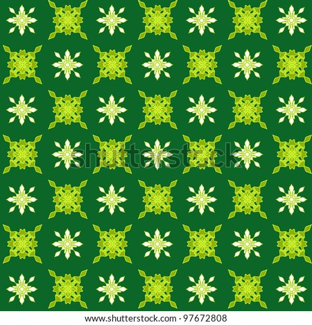 Artistic design pattern in shades of green - stock photo