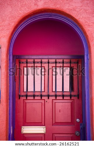 Artistic door in Tucson Arizona - stock photo