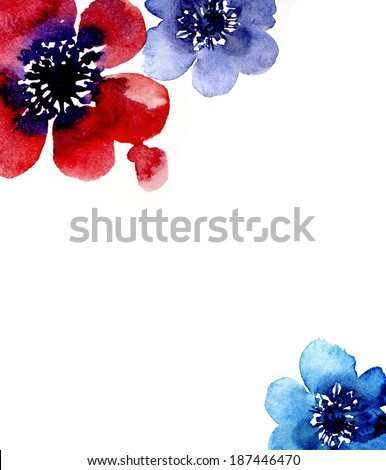 Artistic floral border with room for text - stock photo
