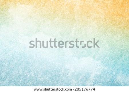 artistic fluffy cloudscape with grunge gradient concrete texture - stock photo